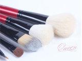8PCS Red Cosmetic Makeup Brush Tool Kits con PU Bag