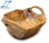 Coupe moyenne en bois fabriquée à la main d'appartement avec 2 cuvettes de poignées
