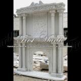 De witte Open haard van de Afdekplaat van Carrara voor Decoratie mfp-457 van het Huis