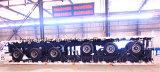 Semi-remorque à chargement par plat Tri Axle 40FT pour conteneur / bois