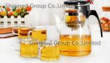 高いCapacity 900ml HotelおよびRestaurant Borosilicate Glass Tea Pot Juice Pot