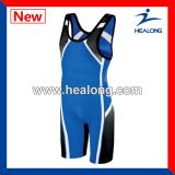 Healong personalizou camisolas interioas Wrestling do Sublimation da tintura com alta qualidade
