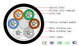 Cable de fibra óptica de Jetnet de 4 bases usado para la instalación Aire-Que sopla