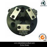125mm 3 Rollers Diamond Floor Grinder Bush Hammer Plate