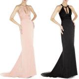 Maxi Kleid-Fußboden-Längen-Frauen-Ineinander greifen kleidet Kleidung