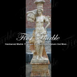 Marmeren Standbeeld Mej.-1004 van het Calcium van het Standbeeld van het Graniet van het Standbeeld van de Steen van het Standbeeld Gouden