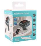 Trasmettitore astuto di Bluetooth FM con il caricatore bidirezionale dell'automobile del USB della spina con controllo di APP del telefono mobile (BC12B)
