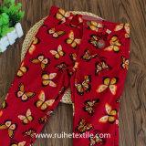 100% calças tecidas ocasionais da menina da cópia de algodão, calças