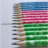 HB en bois non-toxique de crayon avec la gomme à effacer