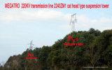 Riga di trasmissione di Megatro 220kv 2240 tipo torretta della testa del gatto Zm1 della sospensione