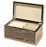 Высокая коробка ювелирных изделий зебры Java лака лоска