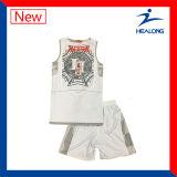 カスタム安い子供のチーム可逆バスケットボールのジャージのワイシャツのユニフォーム