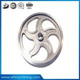 Rueda volante gris del bastidor del hierro de la arena del OEM/rueda volante de giro de la bici