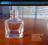 Frasco de vidro do polonês de prego dos produtos vidreiros redondos pequenos