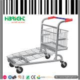 Dinheiro do supermercado - e - carreg o carro do trole da compra