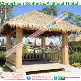 PE/PVCの人工的なやしリゾートのコテッジ水バンガローのための総合的な屋根ふき材料の屋根のビーチパラソル