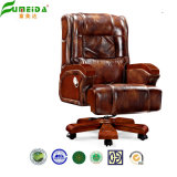Giro Executive Leather Office Chair com Solid Wood Foot (FY1303)