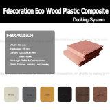 Plancher extérieur du Decking composé en plastique en bois WPC d'Eco