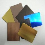 Goldenes Schwingung-Haarstrichfarben-Edelstahl-Blatt für Baumaterial