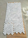 Carrara White Marble Mosaic für Wall Cladding