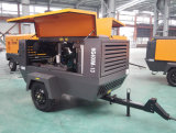 Compressor de ar Diesel do parafuso portátil para a mineração