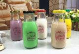 de Flessen van het Glas van de Melk 100ml 250ml 500ml met het Deksel van het Blik