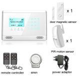 Het draadloze GSM Alarm van de Veiligheid van het Huis met het Scherm van het Toetsenbord van de Aanraking