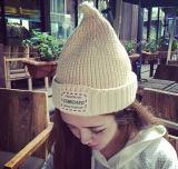 Estilo coreano encantador da forma que faz malha o chapéu feito malha