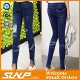 2016 alti pantaloni del Jean della vita della nuova donna di modo con il foro