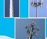 Torretta unipolare d'acciaio dell'antenna di GSM di microonda di telecomunicazione