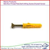 Fiche de mur M5X30 de M6 X 30mm/attache en plastique/attache en nylon de fixation de marteau avec la vis