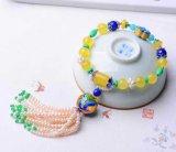 자연적인 Crystal Lapis Lazuli Bracelet Beeswax 8mm Jewellery