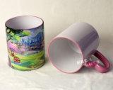 taza de cerámica del color del borde de by-Cm03 11oz con la maneta del corazón