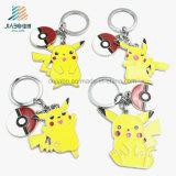 Metallo all'ingrosso su ordinazione Pikachu Keychain di promozione della vernice di colore giallo del rifornimento