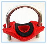 Té mécanique de fer malléable de qualité cannelé (FM/UL/CE))