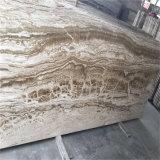 Silberne Dracheonyx-Marmor-Fußboden-Fliese-Innendekoration Innen
