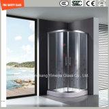 호텔과 홈에 있는 문 Windows 또는 샤워 문을%s 4-19mm 실크스크린 Print/No 지문 산성 식각 또는 설탕장식 또는 패턴 편평하거나 굽은 안전 부드럽게 했거나 단단하게 한 유리
