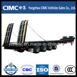 Cimc Schwer-Aufgabe 4 Axles Gooseneck Detachable Type Front Load Low Bed Truck Trailer für Sale