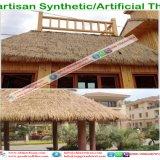 PE/PVC kunstmatige Palm Synthetische Thatch De Paraplu van het Strand van het dak voor de Bungalow van het Water van het Plattelandshuisje van de Toevlucht