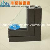 Enduit en aluminium de poudre de profil de guichet de Silding