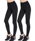 女性のActivewearのヨガによっては高層試しの体操のSpanxのタイツのレギングが喘ぐ