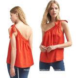 肩の女の子のための偶然のワイシャツのブラウスデザインの特別なカスタマイズされた女の子の方法ちょうネクタイ