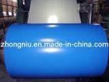 Le Galvalume enduit d'une première couche de peinture/a galvanisé l'enroulement en acier au marché d'UE