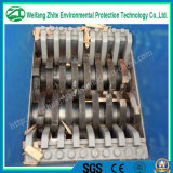 Sólido de goma plástico de residuos de acero pueden Tiro de dos ejes Eje Trituradora, Trituradora de madera industrial