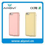 Cas chaud de téléphone cellulaire de vente d'Ebay pour l'iPhone 6 avec le côté 2000mAh de pouvoir