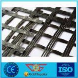Fibra de vidro biaxiaa Geogrid 100-100kn/M