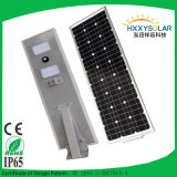 25W Integrated Solar Street Light avec Long Discharge Temps Over 36hours