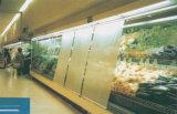 Tampa do Showcase do Refrigeration/cortinas plásticas da noite