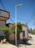 5W 6W todo em uma luz de rua solar Integrated com o sensor esperto de PIR