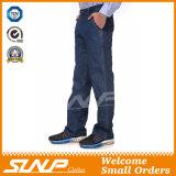 Джинсыы Workwear джинсовой ткани людей длинние помытые подходящие